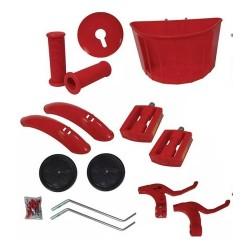 Kit Montagem Aro 16 Vermelho Bicicleta Infantil Menino Aces