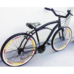 Bicicleta Caiçara 18vl,aro Aero Cubo Roletado,mtb,pneu,