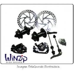 Kit Freio Disco Winzip Mecanico