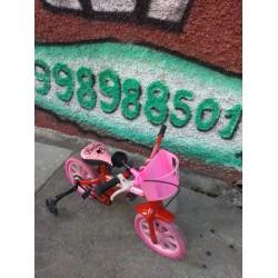 Bicicleta reformada Aro 12 Barbie