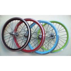 Par de rodas 16 Aero aluminio em cores