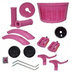 Kit Montagem Aro 16 Rosa  pink Bicicleta Infantil Menino Aces